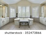 master bath in luxury home with ... | Shutterstock . vector #352473866