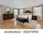 master bedroom in luxury home... | Shutterstock . vector #352473902