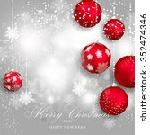 merry christmas and happy new... | Shutterstock .eps vector #352474346