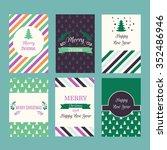 set of beautiful christmas... | Shutterstock .eps vector #352486946