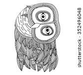 owl illustration. original... | Shutterstock .eps vector #352496048