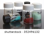 labeled bottles with inorganic... | Shutterstock . vector #352496132