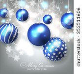christmas invitation with... | Shutterstock .eps vector #352511606