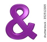 one letter from purple glass... | Shutterstock . vector #352512305