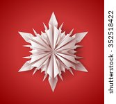 unique 3d origami paper folded...   Shutterstock .eps vector #352518422
