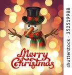 merry christmas hand lettering...   Shutterstock .eps vector #352519988