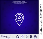 map pointer star icon | Shutterstock .eps vector #352534712