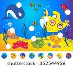 underwater world and marine... | Shutterstock .eps vector #352544936