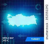 map of turkey  abstract... | Shutterstock .eps vector #352552292