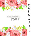 abstract flower background with ... | Shutterstock .eps vector #352552322