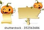 halloween pumpkin head invites...   Shutterstock .eps vector #352563686