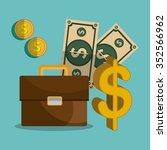financial market and... | Shutterstock .eps vector #352566962