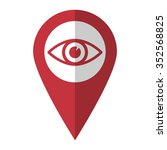 eye   vector icon  red map ...