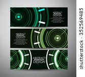 vector banners set with... | Shutterstock .eps vector #352569485