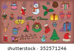 christmas and new year pattern | Shutterstock .eps vector #352571246