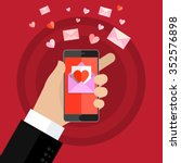 valentines day illustration.... | Shutterstock .eps vector #352576898