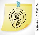 wifi doodle | Shutterstock . vector #352581986