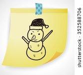 snowman doodle | Shutterstock . vector #352588706