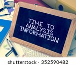 time to analysis information  ... | Shutterstock . vector #352590482