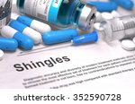 shingles   printed diagnosis... | Shutterstock . vector #352590728