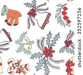 seamless pattern with christmas ... | Shutterstock .eps vector #352597256