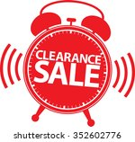 clearance sale alarm clock red... | Shutterstock .eps vector #352602776