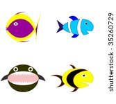 infantile colorful fishes | Shutterstock .eps vector #35260729