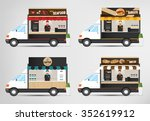 food truck  street food vector... | Shutterstock .eps vector #352619912