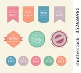 flat badges  stickers  labels... | Shutterstock .eps vector #352636982