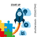 start up design  vector... | Shutterstock .eps vector #352637042