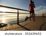 young fitness woman runner... | Shutterstock . vector #352639652