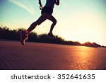 defocused young fitness woman... | Shutterstock . vector #352641635
