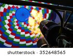 Inside Of A Colorful Hot Air...