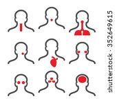 human illness icons pack ... | Shutterstock .eps vector #352649615