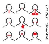 human illness icons  headache ... | Shutterstock .eps vector #352649615
