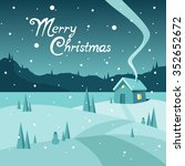 merry christmas greeting card | Shutterstock . vector #352652672