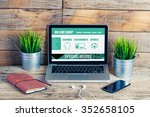on line shop website template... | Shutterstock . vector #352658105