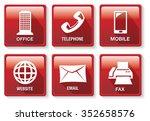 set of six vector illustrations ... | Shutterstock .eps vector #352658576