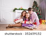 family portrait with the child... | Shutterstock . vector #352659152