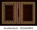 vector classical book cover.... | Shutterstock .eps vector #352660892