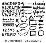 letters  numbers  arrows ... | Shutterstock .eps vector #352662242
