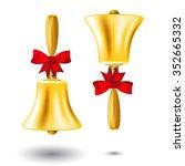 golden school handbell   back...   Shutterstock .eps vector #352665332