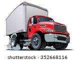 cartoon delivery   cargo truck... | Shutterstock .eps vector #352668116