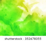 abstract colorful watercolor... | Shutterstock . vector #352678355