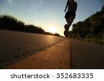 young fitness woman running on ... | Shutterstock . vector #352683335