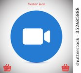 camcorder vector icon | Shutterstock .eps vector #352685888