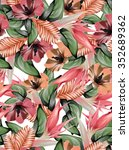 tropical repeating pattern | Shutterstock . vector #352689362