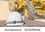 outdoor work use safety helmet... | Shutterstock . vector #352690046