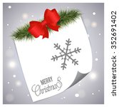 merry christmas greetings card... | Shutterstock .eps vector #352691402