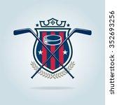 hockey logo sport identity team ... | Shutterstock .eps vector #352693256